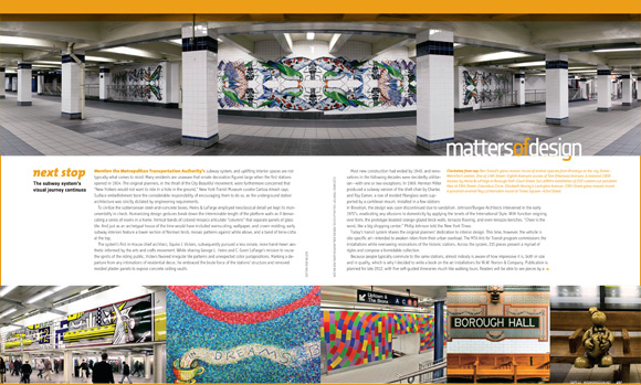 New York MTA art